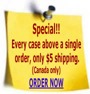 Special: (Canada delivery only) only $5 shipping on 2nd case of a 2-case order!