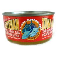 Canned tuna - with olive oil added