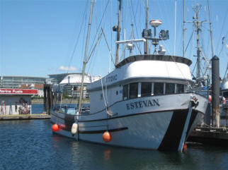 ESTEVAN at dockside waiting for th enext tuna run.